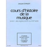 CHAILLEY J. COURS D'HISTOIRE DE LA MUSIQUE TOME 1 VOL 3