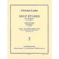 LAUBA C. NEUF ETUDES CAHIER 2 SAXOPHONE SOPRANO