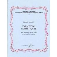 GOTKOVSKY I. VARIATIONS PATHETIQUES SAXO