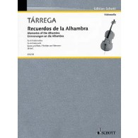 TARREGA F. RECUERDOS DE LA ALHAMBRA VIOLONCELLES