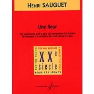 SAUGUET H. UNE FLEUR SAXO ALTO