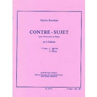 SCIORTINO P. CONTRE-SUJET VOL 1 PERCUSSION