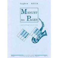 BOZZA E. MENUET DES PAGES SAXO MIB