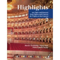 HIGHLIGHTS AUS OPER UND KONZERT VOL 2 PIANO 4 MAINS