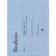 BRAHMS J. VALSES OP 39 PIANO 4 MAINS