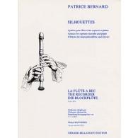 BERNARD P. SILHOUETTES FLUTE A BEC SOPRANO