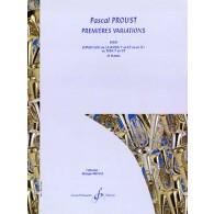 PROUST P. PREMIERES VARIATIONS TUBA