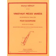 MERIOT M. 28 PIECES VARIEES VOL 2 SAXOPHONE