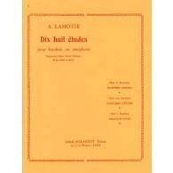 LAMOTTE A. 18 ETUDES HAUTBOIS OU SAXOPHONE