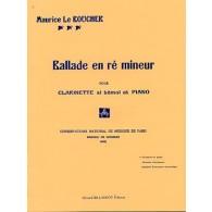 LE BOUCHER M. BALLADE EN RE MINEUR CLARINETTE
