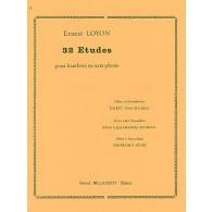 LOYON E. 32 ETUDES HAUTBOIS OU SAXOPHONE