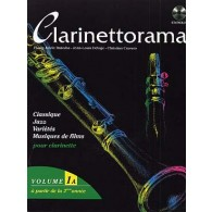 CLARINETTORAMA VOL 1A CLARINETTE + CD
