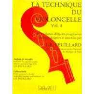 FEUILLARD L.R. TECHNIQUE DU VIOLONCELLE VOL 4
