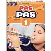 KASTELEIN J. PAS A PAS VOL 1 TROMPETTE + CD ET DVD