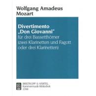 MOZART W.A. DIVERTIMENTO DON JUAN CLARINETTES