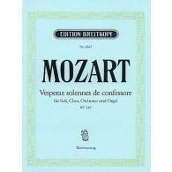 MOZART W.A. VEPRES SOLENNELLES CONFESSEUR CHANT