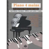 PIANO 4 MAINS 8 THEMES CLASSIQUES CELEBRES