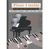 PIANO 4 MAINS 8 THEMES CLASSIQUES CELEBRES
