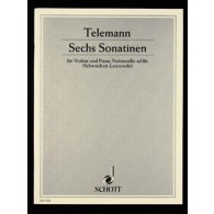 TELEMANN G.P. 6 SONATINES VIOLON