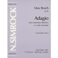 BRUCH M. ADAGIO OP 56 VIOLONCELLE