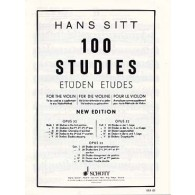 SITT H. 100 STUDIES OPUS 32 VOL 3 VIOLON
