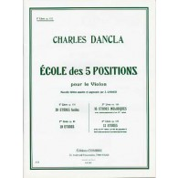 DANCLA C. ECOLE DES 5 POSITIONS OP 122 VOL 1 VIOLON