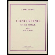 HECK A. CONCERTINO SOL MAJEUR OP 40 ALTO