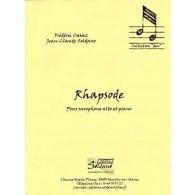 CASIEZ F./SOLDANO J.C. RHAPSODE SAXO ALTO PIANO