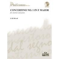 BREVAL J.B. CONCERTINO N°1 CLARINETTE