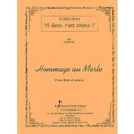 LEDEUIL E. HOMMAGE AU MERLE FLUTE
