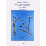 DONJON J. 8 ETUDES DE SALON FLUTE