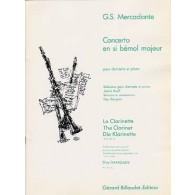 MERCADANTE G.S. CONCERTO SIB MAJEUR CLARINETTE