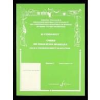 VERGNAULT M. COURS DE FORMATION MUSICALE D1