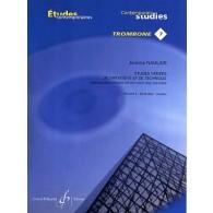 NAULAIS J. ETUDES VARIEES DE VIRTUOSITE VOL 2 TROMBONE