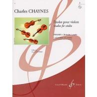 CHAYNES C. ETUDES POUR VIOLON VOL 1