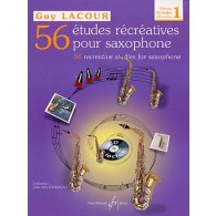 LACOUR G. 56 ETUDES RECREATIVES VOL 1 SAXO
