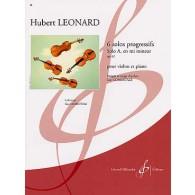LEONARD H. SOLOS PROGRESSIFS OP 62 EN MI MINEUR VIOLON