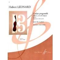 LEONARD H. SOLOS PROGRESSIFS: SOLO C EN SOL MAJEUR OP 62 ALTO