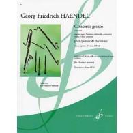 HAENDEL G.H. CONCERTO GROSSO 4 CLARINETTES