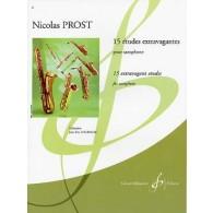 PROST N. 15 ETUDES EXTRAVAGANTES SAXOPHONE