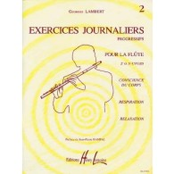 LAMBERT G. EXERCICES JOURNALIERS VOL 2 FLUTE