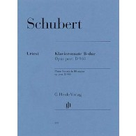 SCHUBERT F. SONATE SI MAJEUR D 960 PIANO