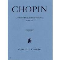 CHOPIN F. ANDANTE SPIANATO GRANDE POLONAISE OP 22 PIANO
