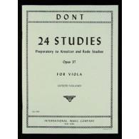 DONT J. 24 ETUDES ALTO