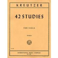 KREUTZER R. 42 ETUDES ALTO