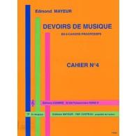 MAYEUR E. DEVOIRS DE MUSIQUE CAHIER 4
