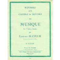 MAYEUR E. REPONSES DEVOIRS DE MUSIQUE CAHIER 6