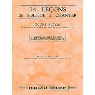 GARTENLAUB O. 14 LECONS DE SOLFEGE A CHANTER CLE DE SOL MOYEN