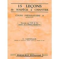 GARTENLAUB O. 15 LECONS DE SOLFEGE A CHANTER CLE FA PREPARATOIRE B