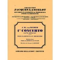 WEBER C.M. CONCERTO N°1 OP 73 CLARINETTE